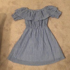 She and Sky Blue Pinstriped Dress Size M